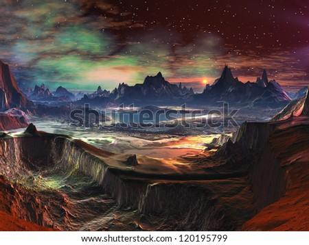 Fire-walk Canyon - stock photo