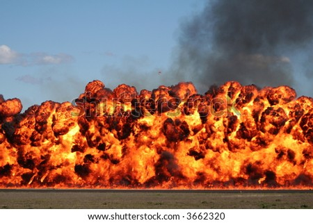 Fire Wall - stock photo
