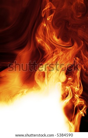 fire with copy space - stock photo