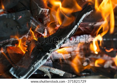 fire wood burning