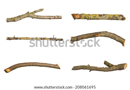 Fire wood isolated on white  - stock photo
