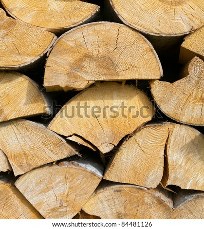 Fire woods - stock photo