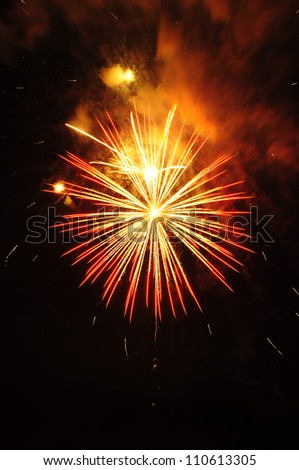 fire work - stock photo