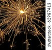 fire works sparkler  in detail - stock photo