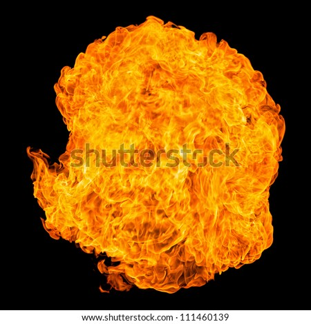 Fireball explosion in great detail - Impressive abstract picture use as background - stock photo