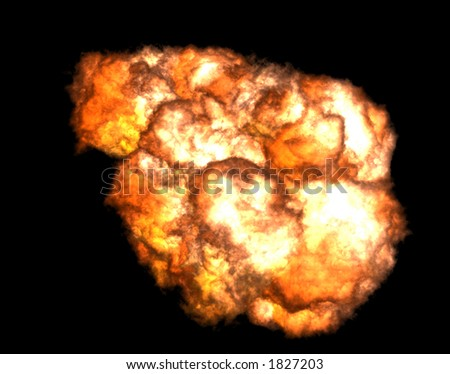 Fireball of an explosion
