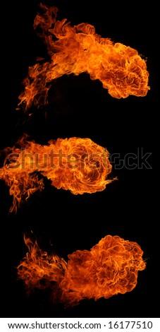 Fireballs - stock photo