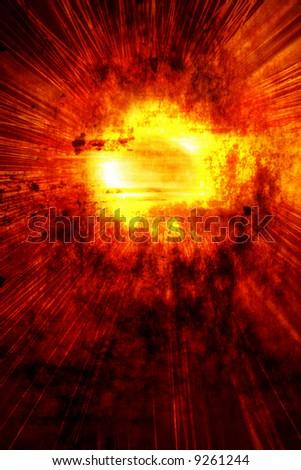 Fireblast - stock photo