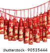 Firecrackers for chinese new year decoration. - stock photo