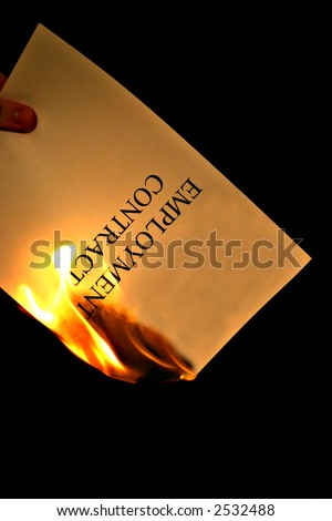Fired - Businessman - stock photo