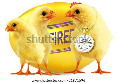 Fired CRISIS TIME - stock photo
