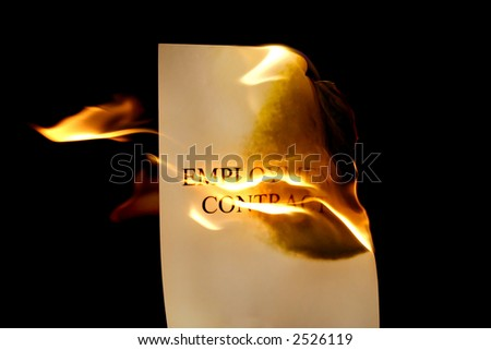 Fired - Employment Contract - stock photo