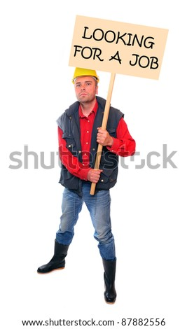 Fired worker looking for a job. - stock photo