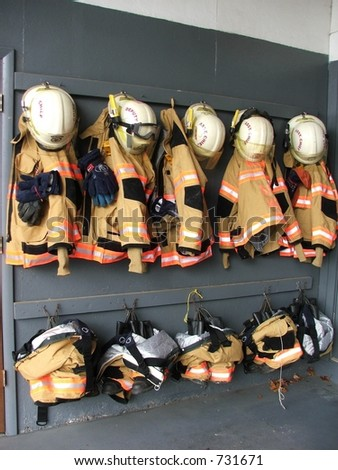 Firefighter gear - stock photo