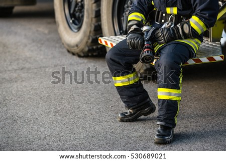 firefighter portrait on duty