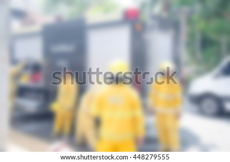 firefighter training.blur image of firefighter. - stock photo