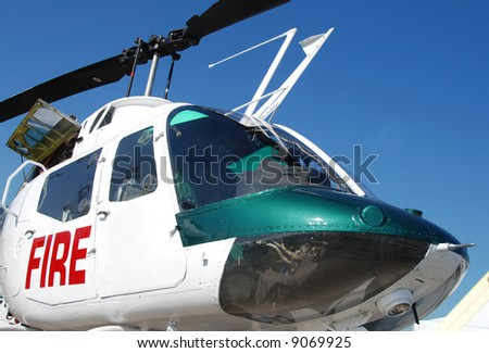 Firefighting helicopter - stock photo