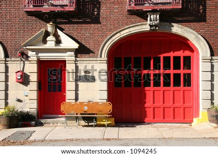 Firehouse in Charlestown, Massachusetts - stock photo