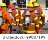 Fireman team - stock photo
