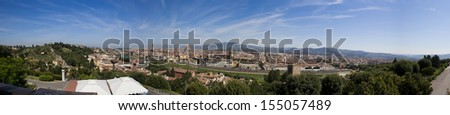Firenze panorama - stock photo