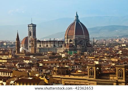Firenze Panorama - stock photo