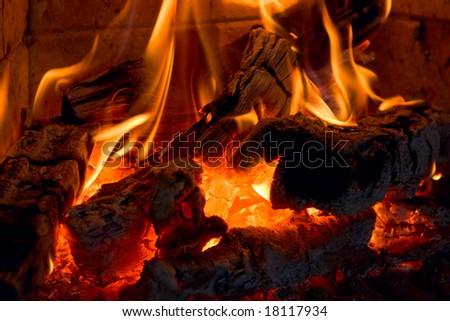 Fireplace - stock photo