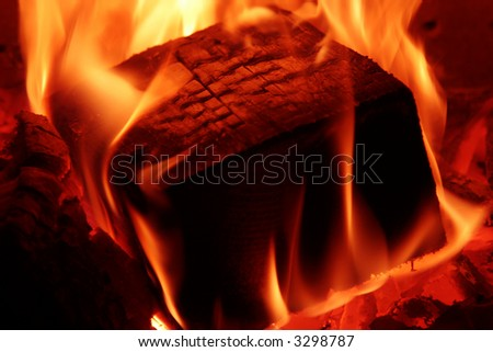 Fireplace 2. - stock photo