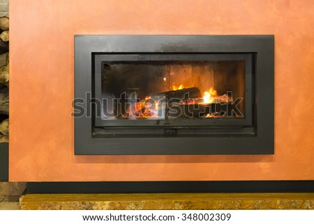 fireplace energy - stock photo