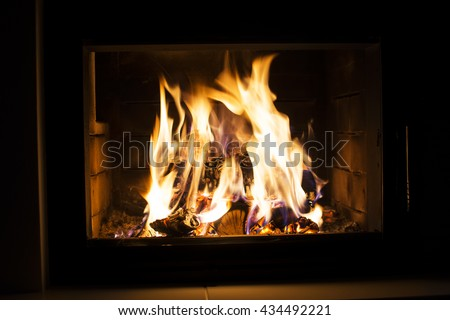 Fireplace - fire - hearth - fire - flames