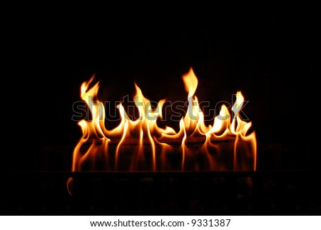 Fireplace flames - stock photo