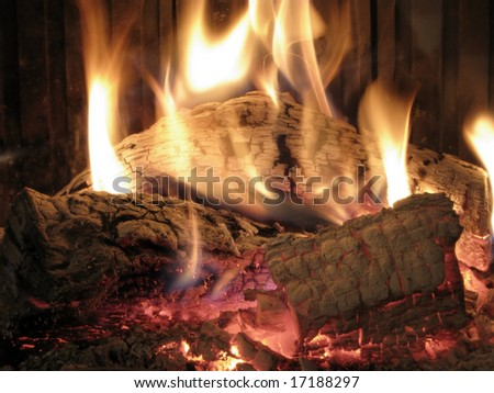 Fireplace in Winter