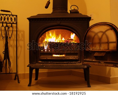 Fireplace - open