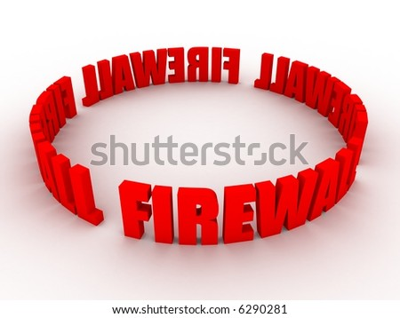 firewall - stock photo