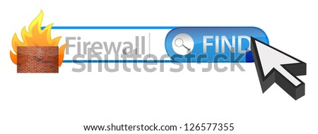 Firewall search illustration design over a white background - stock photo
