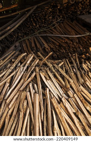 Firewood at home - stock photo