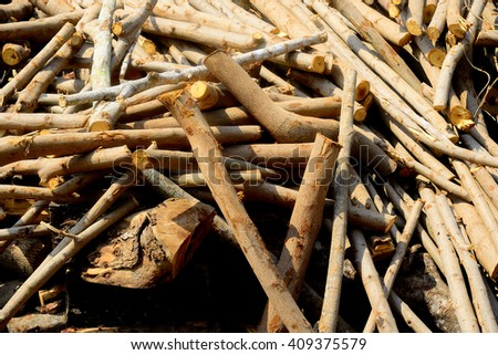 Firewood for cooking fuel.
