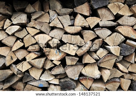 Firewood  for winter - stock photo
