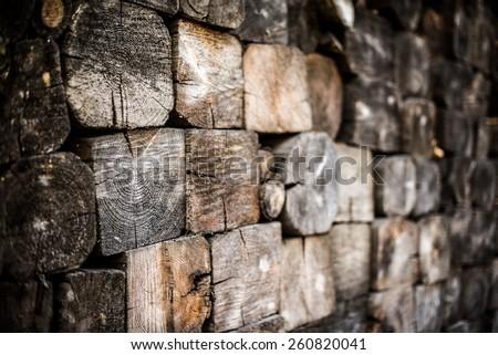 Firewood Pile. Wood Pile - stock photo