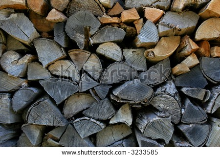 Firewood stack background.