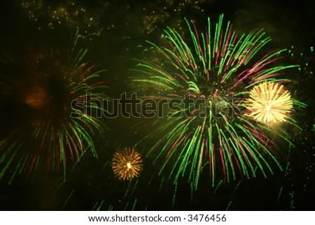 firework array - stock photo
