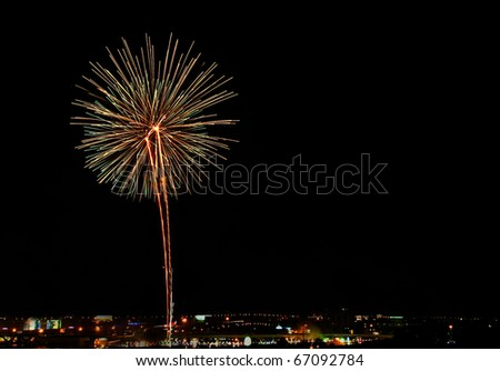 Firework from Thailand's father day celebration - stock photo