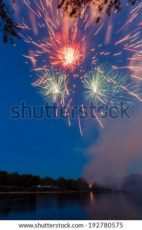 Firework in Moscow - stock photo