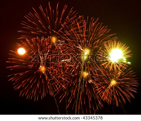 Firework in spain - stock photo