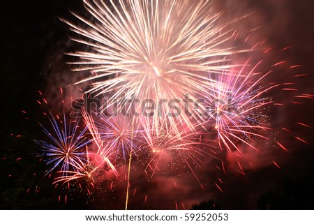 Firework of Thailand mother's day - stock photo