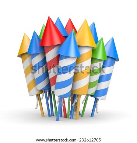 Firework rocket - stock photo