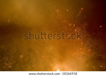 Fireworks abstract background - stock photo