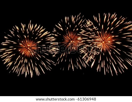 Fireworks at night - stock photo