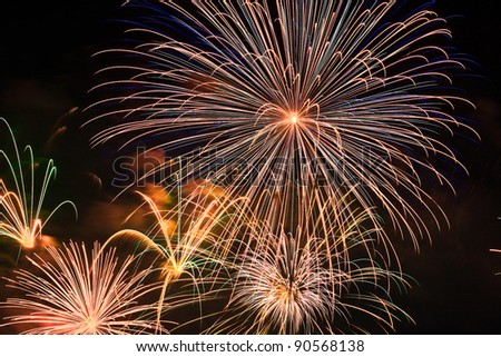 fireworks background. - stock photo