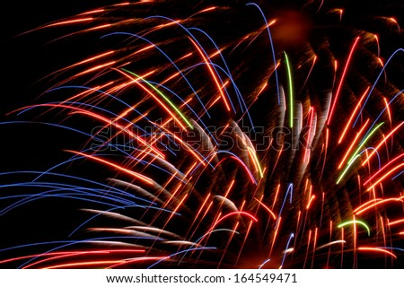Fireworks bright colors - stock photo