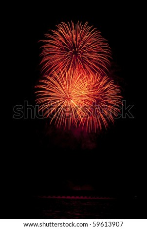 fireworks celebration festival in the sky form Thailand - stock photo